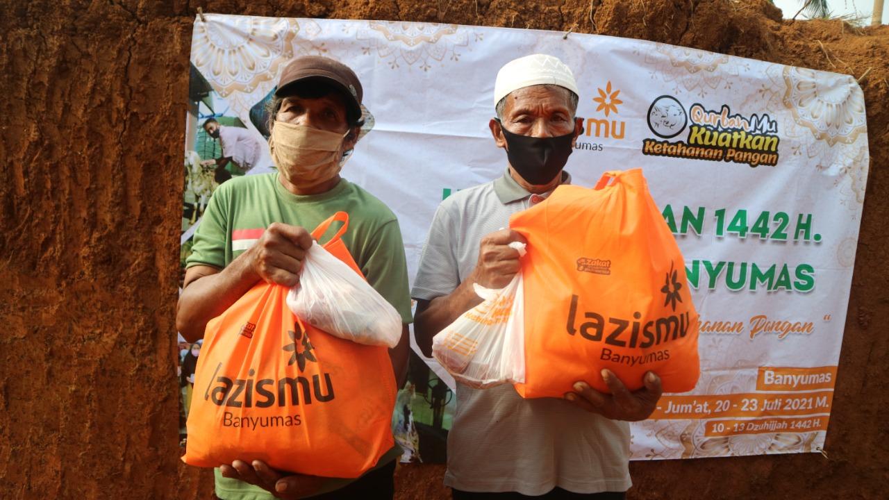 Tidak Hanya Distribusikam Daging Kurban, Idul Adha 1442 Lazismu Banyumas Juga Berikan Paket Fidyah